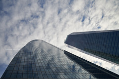 Glass tower mirrors (Modesto Vega) Tags: architect architecture arquitecto arquitectura cbta cuatrotorresbusinessarea césarpelli d600 fullframe madrid nikon nikond600 peicobbfreed rascacielos skyscraper spacetower torreespacio torredecristal towerofglass