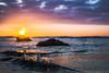 Splash: Sunset at Sands Beach (AlphaPhoenix) Tags: splash wave ocean pacific water droplet beach rock sunset sky clouds sandsbeach california santabarbara islavista