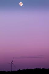 Violet Moon (scheuringv) Tags: shadow light twilight dämmerung winterabend wolke moon sky purple violet lila blau blue windmill windrad cloud forest wald mond kugel abendhimmel canon natur outdoor landscape landschaft horizon horizont eos 1100d nature colors pink rosa himmel winter farbübergang scenery