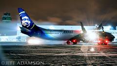 Alaska Airlines (colombian907) Tags: anc panc anchorage alaska airport planespotting alaskaair alaskaairlines boeing 100years n248ak winter snow deicing ramp worldteamaviationphotography