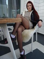 a short skirt waiting (faberlatusm - 250'000'000 views) Tags: sexy pantyhose miniskirt microskirt shortskirt upskirt legs sensual erotic flashinpublic flashing