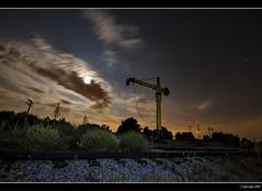 Estacin de Miraflores (Pogdorica) Tags: madrid tren noche via estrellas estacion nocturna grua mirafloresdelasierra