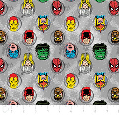 """(Camelot Cottons) Marvel Comic II, Characters In Grey • <a style=""""font-size:0.8em;"""" href=""""http://www.flickr.com/photos/132535894@N06/18145433063/"""" target=""""_blank"""">View on Flickr</a>"""