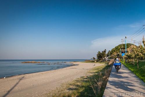 Scieżka rowerowa wzdłuż wybrzeża