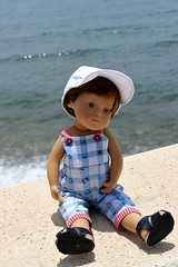 Teddy visits Torrox Costa.... (dambuster01) Tags: lighthouse toddler 2000 costadelsol torrox mediterraneansea gotz sashamorgenthaler