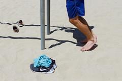 Photo Shoot : Alan (jkc.photos) Tags: california sea shirtless sky man feet beach losangeles sand exercise outdoor santamonica nike workout fitness runningshoes