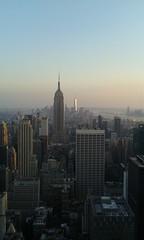 New york (Londrina92) Tags: city sunset panorama newyork skyline skyscraper tramonto view outdoor esb empirestatebuilding topoftherock totr