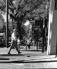 Waiting and Walking (TMimages PDX) Tags: street people photography photo image streetlife explore sidewalk photograph pedestrians intersection portlandoregon fineartphotogra