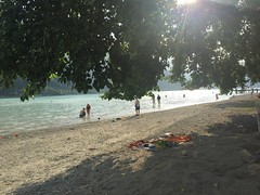 Maurach Beach (Thomson Lakes) Tags: lake beach water austria sand lakeside maurach achensee pertisau