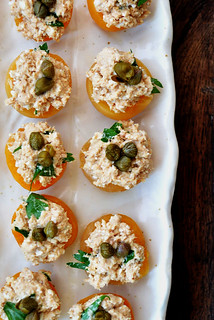 apricots stuffed with tuna and capers