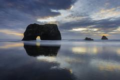 Archway to the Sea (pixelmama) Tags: california fortbragg mendocinocoast mendocinocounty pixelmama westport westportbeach clouds cloudporn reflections boozebeach beachtherapy vitaminsea arch
