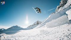 Massakka @ StewBay (Snow Front) Tags: massakka photo rider vincentkolibiuscom snowfront snow winter funpark mountains mountainlove kicker jump backflip bluebird sky