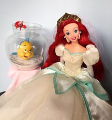 Princess Ariel and Her Day 1's (Richard Zimmons) Tags: ariel doll mattel ocean bride little mermaid disney princess