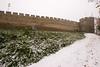 castle wall (Jules Marco) Tags: castlewall brickwall burgmauer turm tower canon eos600d sigma1020mmf35exdchsm weitwinkel wideanglelens eggenburg österreich austria niederösterreich loweraustria zinnen battlements schnee snow winter outdoor