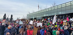 20170129_130214 (2) (Wolfram Burner) Tags: bantrump weareallimmigrants we all immingrants protest trump coexist eugene oregon federal courthouse march action love uoregon uofo