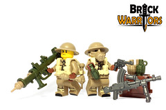 Jan 2017 - WW2 British Sapper (BrickWarriors - Ryan) Tags: brickwarriors custom lego minifigure weapons helmets armor ww2 world war guns machine british brodie rocket launcher grenade allies military