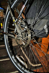 Giving You The Gears! (✪☺✿One Week Left!✿☺✪) Tags: bike gears brakes tire foyer theflickrlounge flashphotography