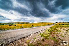 The road to Meyrueis, France