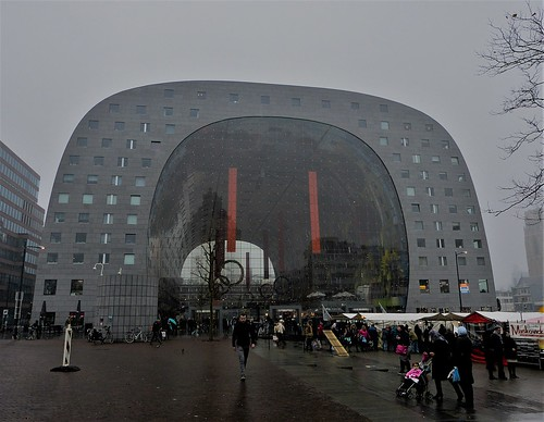 Markthal Rotterdam on a grey day