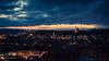 Les lumières de la ville (Gilderic Photography) Tags: liege belgium belgique belgie sky skyline dusk sunset city night cityscape cinematic lights canon 500d gilderic