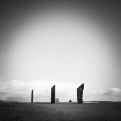 In the bright moonlight (Premysl Fojtu) Tags: standingstones stenness stonecircle menhir night stars moonlight bright longexposure orkney mainland island landscape scotland minimalistic