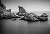 The silent rocks (Anthony P26) Tags: antalya category places seascape travel turkey longexposure travelphotography landscapephotography monochrome horizon greysky greyclouds cloudy blurredwater rocks shore coast coastal mediterranean sea seaside seashore serene silent tranquil canon1585mm canon70d canon outdoor outside brilliant wow