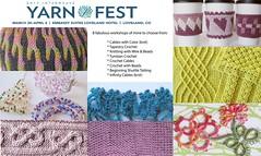 2017 Interweave Yarn Fest Workshops (NikkisStudio) Tags: 2017interweaveyarnfest yarnfest17 crochet knitting crochetingwithbeads tatting shuttletatting tunisiancrochet