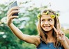Gril with flowers in hair taking selfie with peace sign, Plattsmouth, NE, Inti St. Clair (I am so sorry :() Tags: intistclairphotography photography advertising advertisingphotographer advertisingphotography commercialphotographer commercialphotography commercialphotographyseattle editorial editorialphotographer editorialportraitphotographer headshot headshotphotographer lifestyle lifestylephotography portrait portraitphotographer