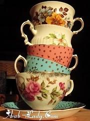 أكواب شاي مزخرفة بشكل آخاذ (Arab.Lady) Tags: أكواب شاي مزخرفة بشكل آخاذ