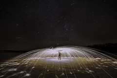 Under the Stars (Terry L Richmond) Tags: stars nightscape steel wool burning sparks longexposure self canon6d 14mm
