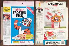 Vintage 1980 Kellogg's Frosted Rice Cereal Box (gregg_koenig) Tags: vintage 1980 kelloggs frosted rice cereal box 80s 1980s tony jr