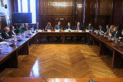 Reunión de trabajo con la dirección del grupo Popular en el Congreso