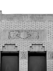 The MidFirst Bank in Chickasha, Oklahoma (kevinellison62) Tags: midfirstbank blackwhite artdeco architecture building oldbuilding chickasha oklahoma bank carving