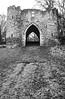 Gateway to Pretense (Richie Rue) Tags: nikon film film:brand=foma film:name=fomafomapan100 film:iso=100 analogue analog castle gate gateway fake pretend pretense mono monochrome blackandwhite
