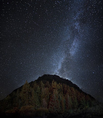 We're in This Together (MilaMai) Tags: milky way galaxy mountains autumn fall forest trees stars sichuan china asia landscape astrophotography milamai nightsky tibetan village nature nebula starscape space astro