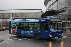 Go North East: 5203 / NK54 NUW (Northern Transport Photos) Tags: nebuses gonortheast nk54nuw bluearrow scaniawrightsolar