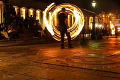 Edinburgh street show at night (SergeK ) Tags: purple fire nigh edinburgh sergek street uk unitedkingdom tourist explore