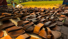 Slippers ! (Aditya Ananth) Tags: brown color collection slippers mahabalipuram chappal mahabaliouram