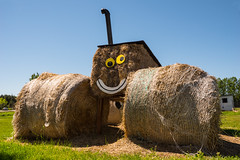 Baley (Light Collector) Tags: tractor ontario smiling faces outdoor farm haybales odc stayner baley clearviewtownship fernwoodfarms