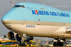 Korean klose-up... (Colin Hollywood Photography) Tags: holland netherlands amsterdam taxi cargo korean schiphol 747