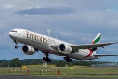 Boeing 777 300 ER : Emirates : Taking Off : Newcastle  intl Aiport : EGNT : UK (Benjamin Ballande) Tags: uk newcastle er off emirates boeing 300 taking 777 intl aiport egnt