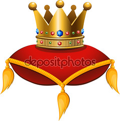 Gold crown on a crimson cushion (sukisularm) Tags: blue red color art yellow illustration painting gold shiny king power image symbol drawing object cartoon award objects fringe jewelry icon queen diamond pillow identity precious crown cushion emerald vector isolated gem tassel coronation sapphire elegance spangle nobility sapphir