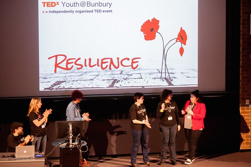 Team taking a bow TEDxYouth@Bunbury