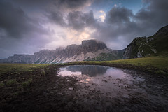 The Crater (@hipydeus) Tags: italy lake mountains alps reflections mud berge alpen bergsee dolomites southtyrol dolomiten