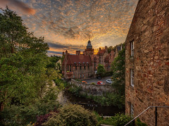 Dean Village, Edinburgh (Thanks for all the Likes & Comments) (MilesGrayPhotography (AnimalsBeforeHumans)) Tags: city uk sunset summer sky urban panorama tower mill water skyline architecture canon river lens landscape photography eos evening scotland town photo edinburgh europe glow cityscape village britain outdoor dusk pano wide scenic panoramic nd leith usm ef 1740mm canonef1740mmf4lusm hdr blending 6d deanvillage f4l auldreekie nighfall ef1740mm nd1000 nd30 villagearchitecture canoneos6d