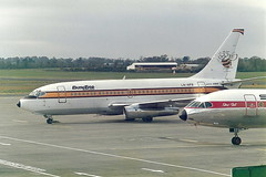 LN-NPB Boeing 737-2R4C Busy Bee A/S (eigjb) Tags: november digital plane airplane aircraft aviation jet scan bee busy pre sterling boeing 1985 spotting airliner 737 caravelle b737 131185 oystf lnnpb 7372r4c