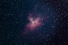 M16 Eagle Nebula + Pillars of Creation ([fluxa]) Tags: stars telescope nebula astrophotography astronomy universe cosmos hubble astrophoto stargazing astronomer telescopio eaglenebula deepsky pillarsofcreation