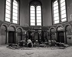 Redemption Song (sadandbeautiful (Sarah)) Tags: me woman female self selfportrait abandoned church bw
