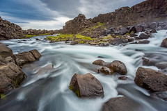 Iceland - Öxarárfoss waterfall (lucien_photography) Tags: rouge iceland waterfall longexposure firecrest ndfilter islande nature water sky landscape