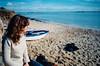 Reine (A.Oscar) Tags: contax139 kodak portra 400iso analog argentique mer sea ocean beach plage sable girl woman portrait bretagne france daydream horizon femme fille rêverie